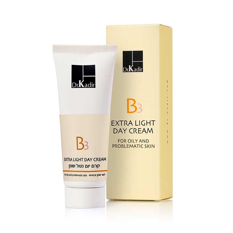 Обезжиренный дневной крем для жирной и проблемной кожи / B3 Extra Light Day Creamfor oily and problematic skin - Dr. Kadir